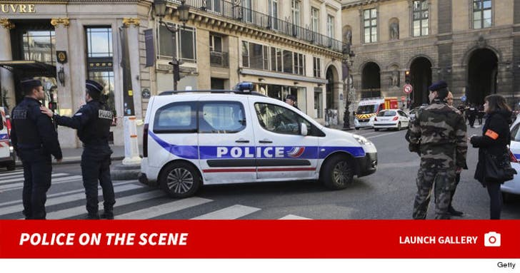 Louvre Attack -- Police on the Scene