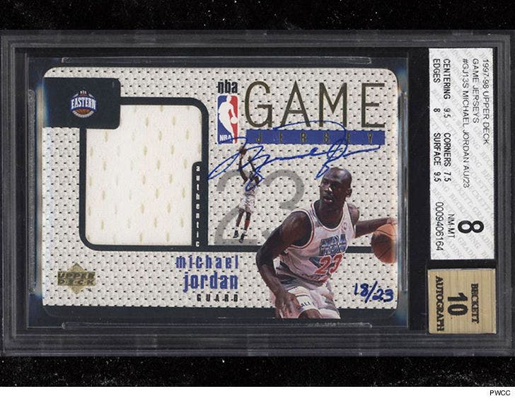 Rare Michael Jordan Autographed Jersey Card Sells For Almost 95k