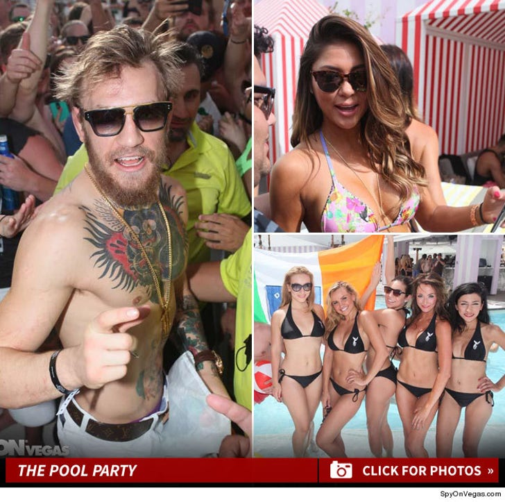 UFC's Conor McGregor -- Vegas Bikini Pool Party ... After Big Victory