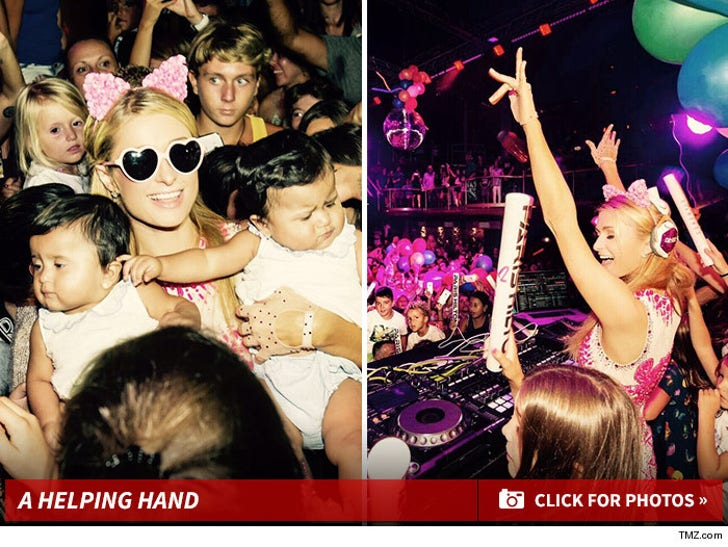 Paris Hilton - Throws Local Kids Rave for Charity