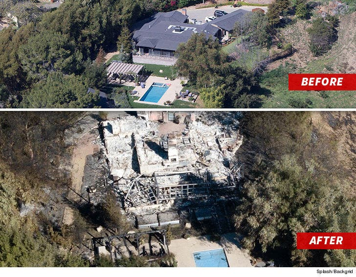 Liam Hemsworth Visits Home Remains Torched By California Wildfires