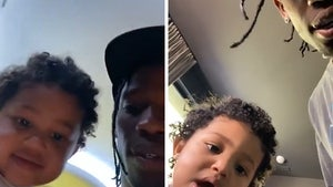 Stormi Steals the Show During Travis Scott's Fortnite Concert