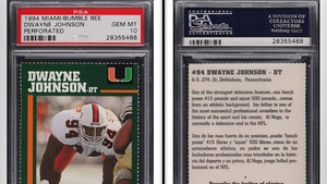 Dwayne Johnson Rare College Football Card of 'The Rock' Fetches $14,000!