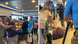 Vikings Fan Floored By Huge Punch In Wild Brawl At Panthers' Stadium