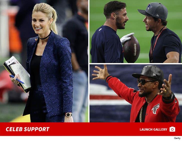 Super Bowl 51 Warm Up - Celeb Support