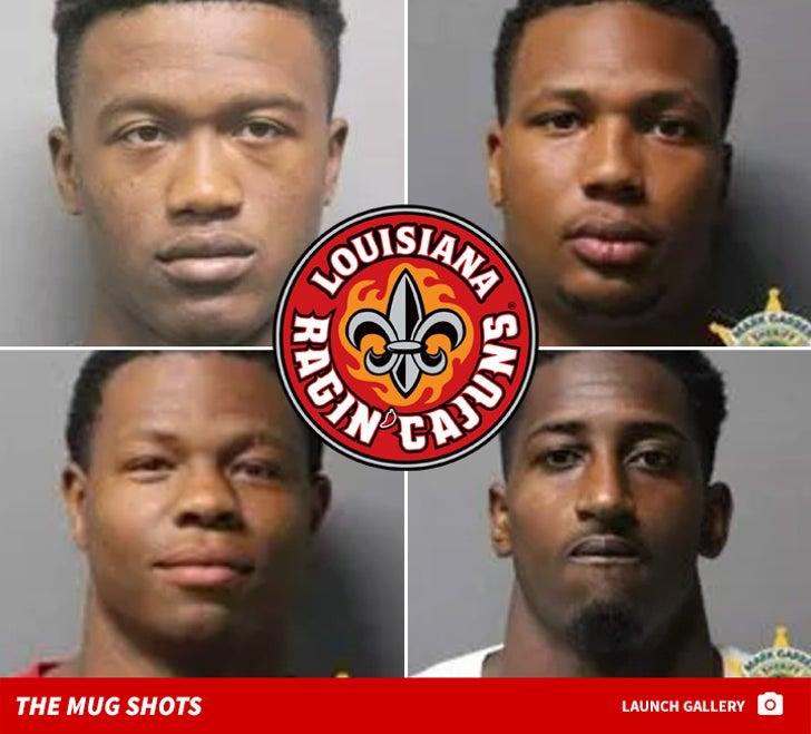 Ragin' Cajuns Football Team Mug Shots