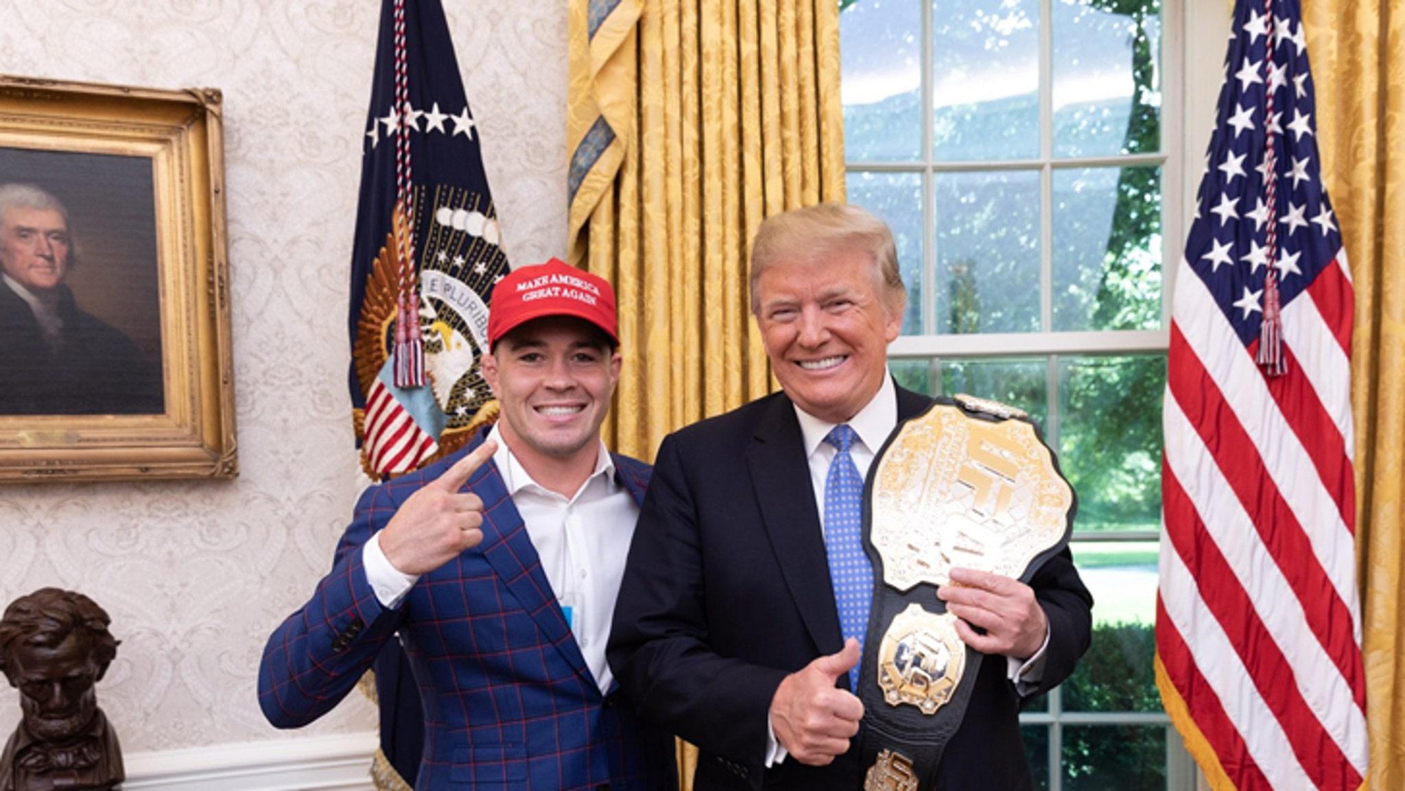 Colby Covington Visits White House Unlike The Filth A Delphia Eagles