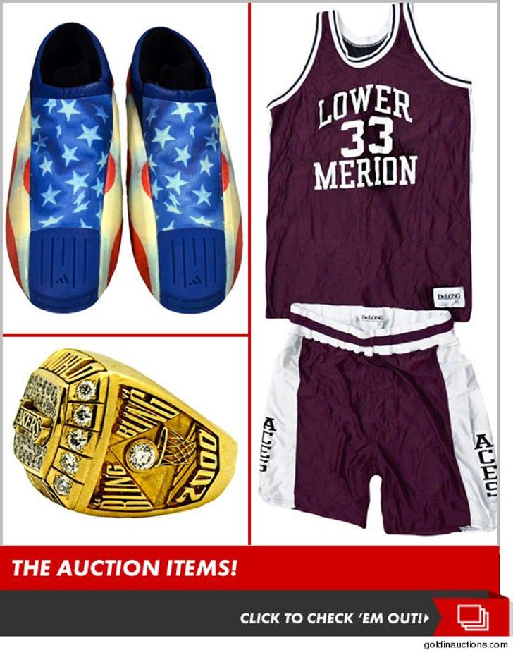 Kobe Bryant's Auction Items