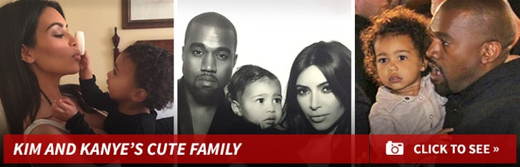 Kim Kardashian and Kanye West's Cute Family