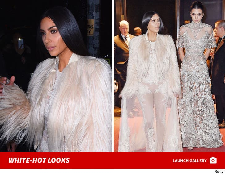 Kim Kardashian, Kendall All Gussied Up for 'Ocean's Eight'