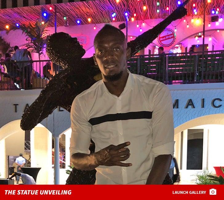 Usain Bolt -- Statue Unveiling