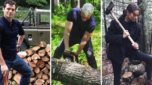 Celebrity Lumberjacks With HollyWOOD Chops