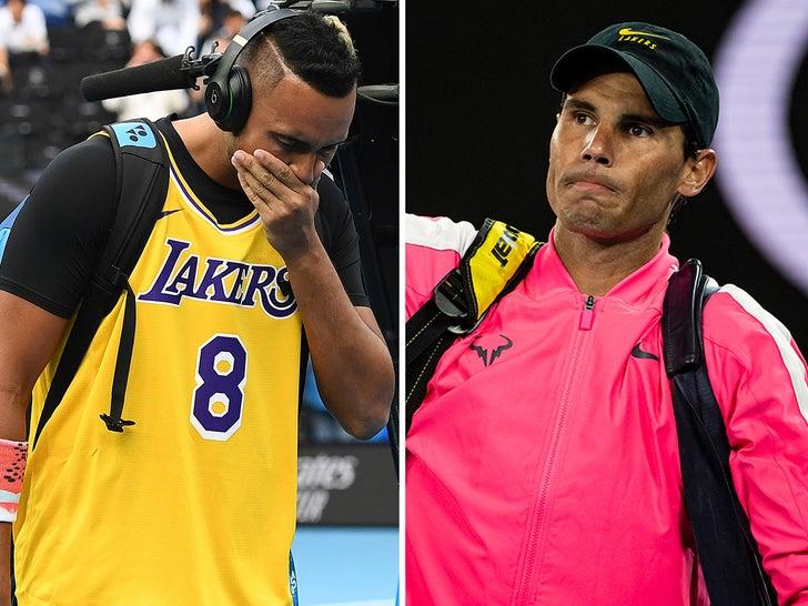 Rafael Nadal and Nick Kyrgios -- Honoring Kobe At Australian Open