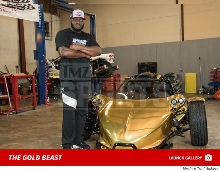"Derrick ""Black Beast"" Lewis' Custom Golden Whip"