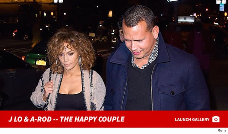 Jennifer Lopez and Alex Rodriguez -- The Happy Couple