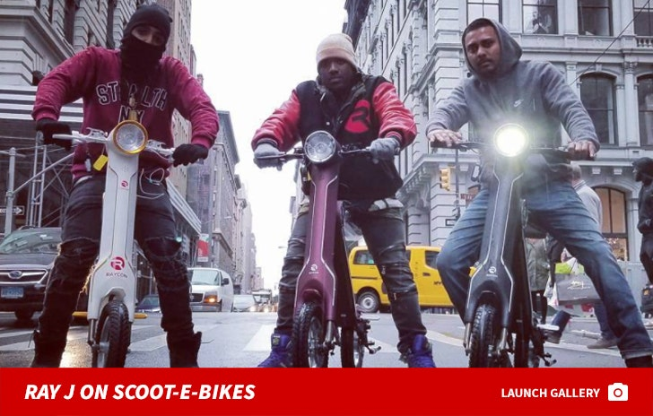Ray J on Scoot-E-Bikes