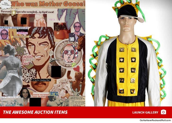 Elton John's Awesome Auction Items