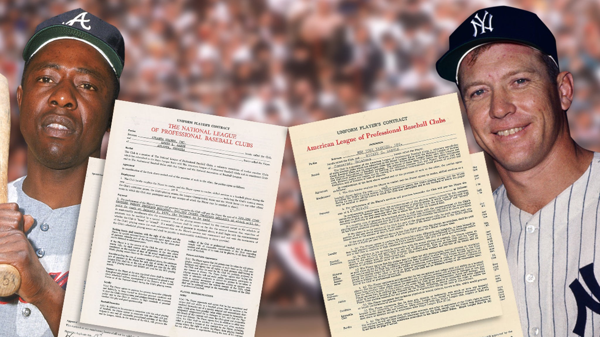 Mickey Mantle, Hank Aaron Signed Contracts Hit Auction, Could Fetch Thousands!