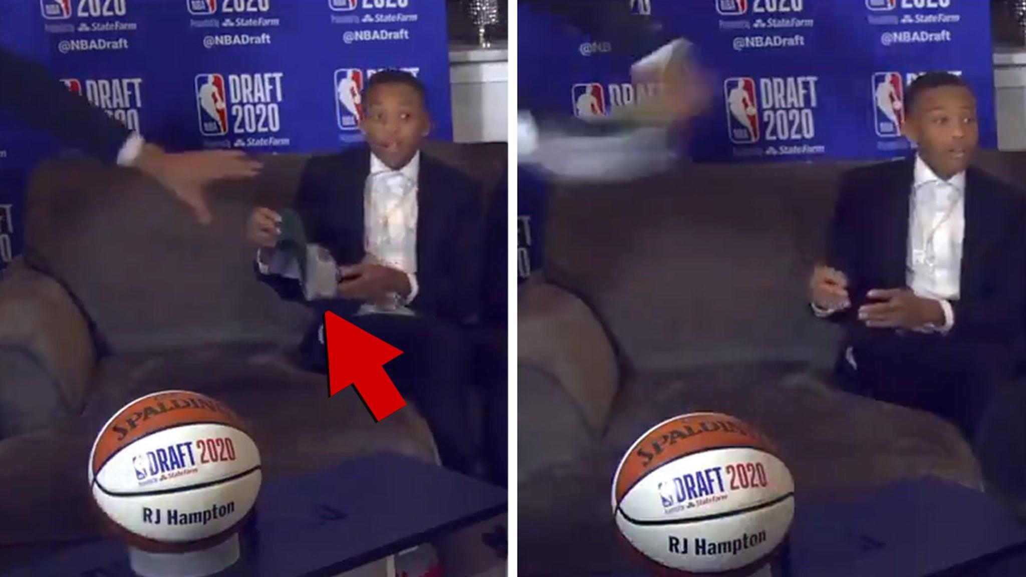 RJ Hampton Dad Throws Mil. Bucks Hat at NBA Draft ... You're Going to Denver!!!