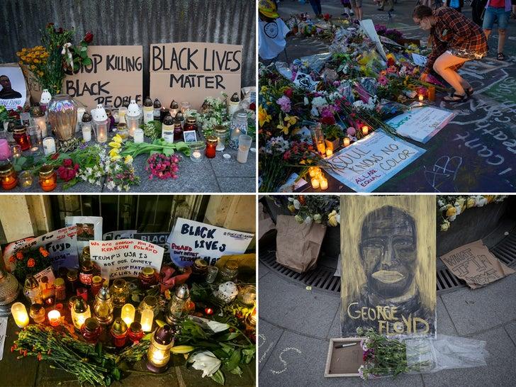 George Floyd Memorials Around The World