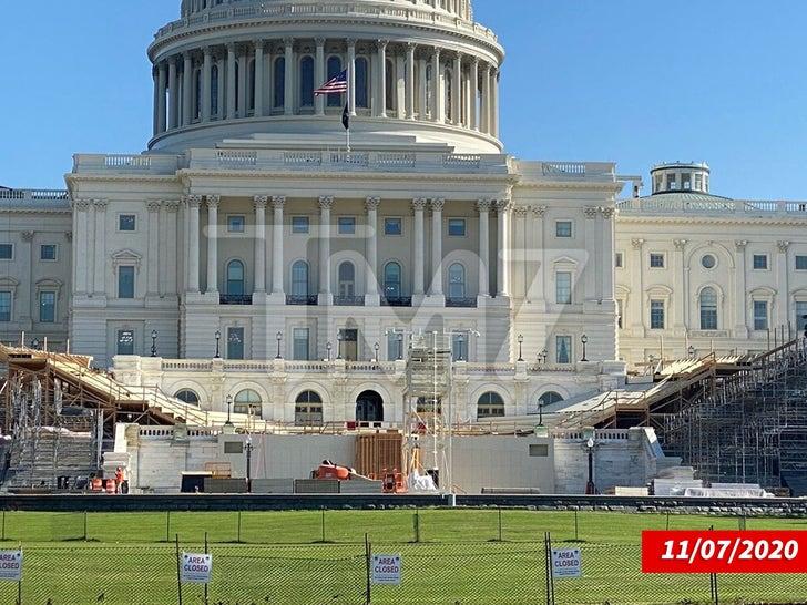 Inauguration Day Construction Underway