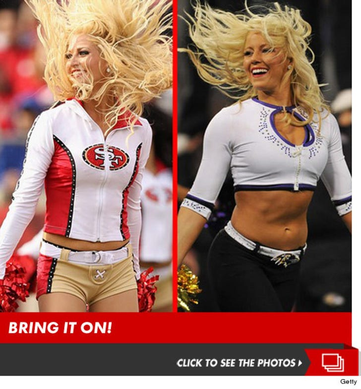 49ers Babes vs. Ravens Babes: Who'd You Rather?!