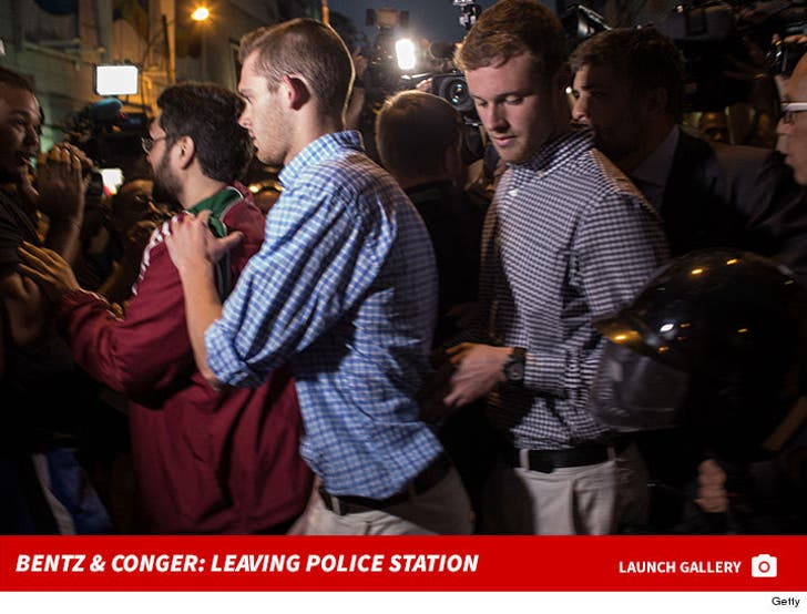 Gunnar Bentz and Jack Conger -- Leaving Rio Police Station