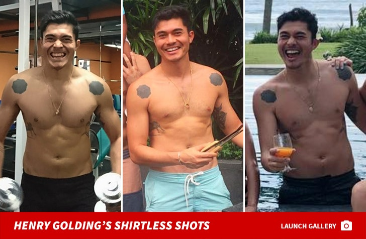 Henry Golding's Shirtless Shots