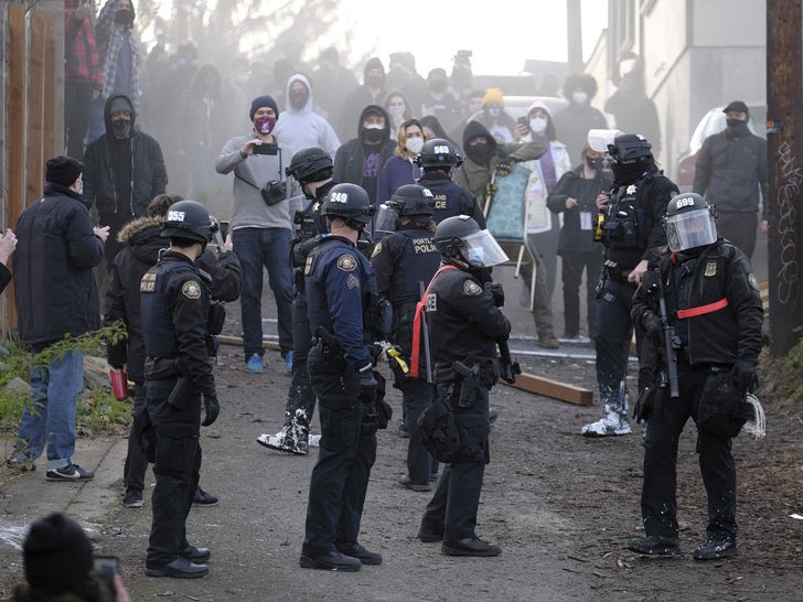Portland Protesters Clash with Police Over 'Red House'