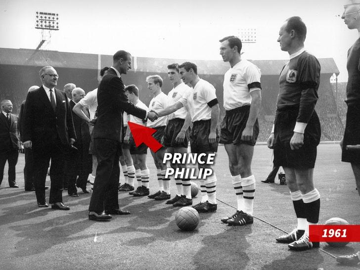 prince philip meets the England football team
