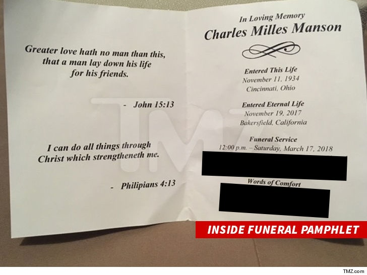 Charles Manson Had Open Casket Funeral Before He Was Cremated