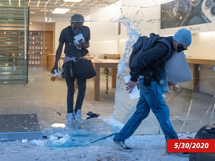 Looting At The Apple Store At The Grove