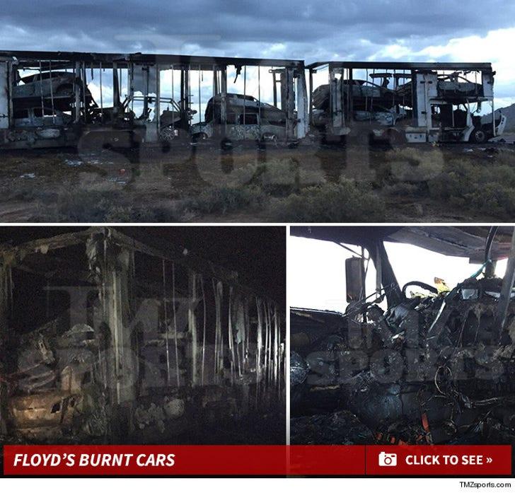Floyd Mayweather's Burnt Cars