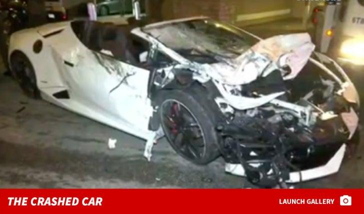 NBA Youngboy's Lamborghini Car Crash Photos