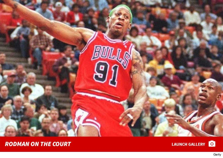 Dennis Rodman on the Court