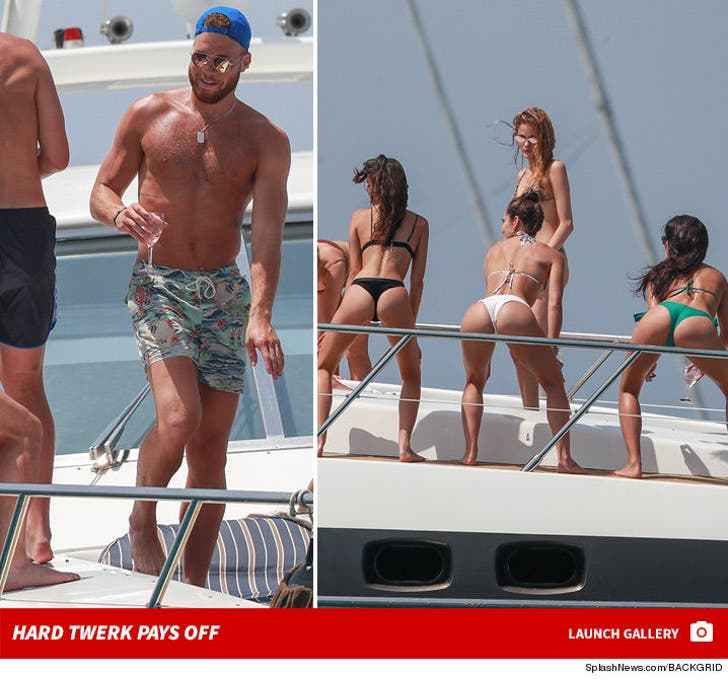 Blake Griffin and Chandler Parsons Throw Twerk Party On Yacht!