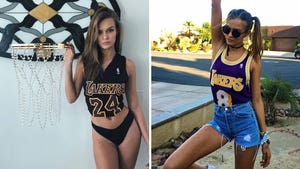 Josephine Skriver -- Hottest Lakers Fan