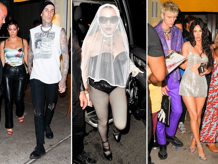 Celebs Party All Over NYC After VMAs 2021