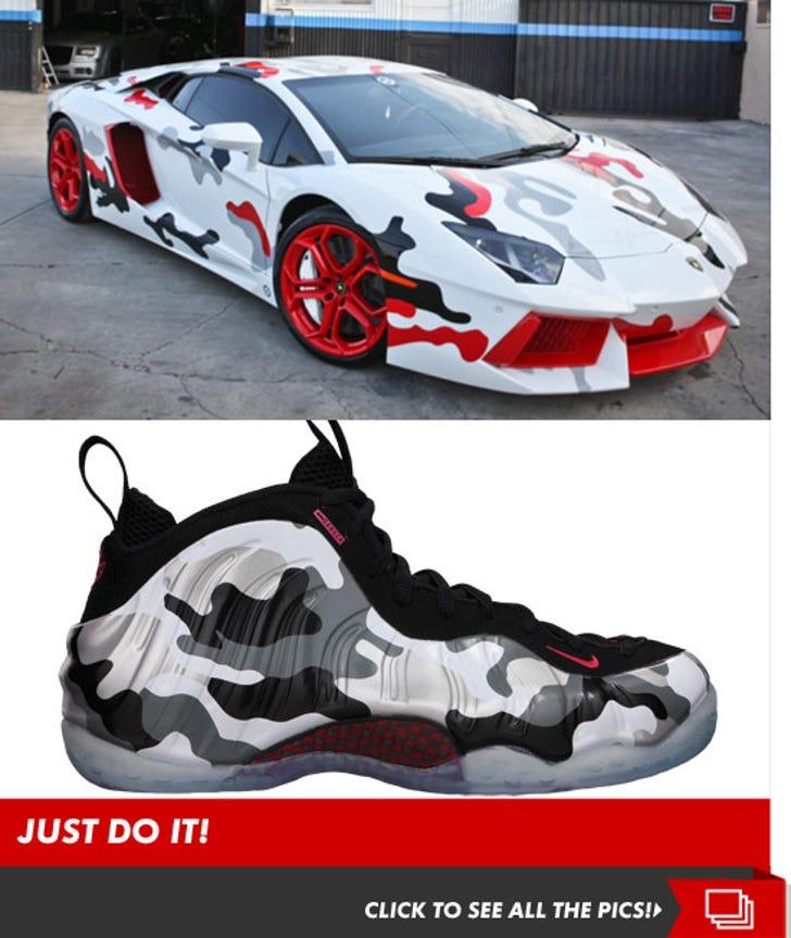 Chris Brown's Nike Inspired Lamborghini