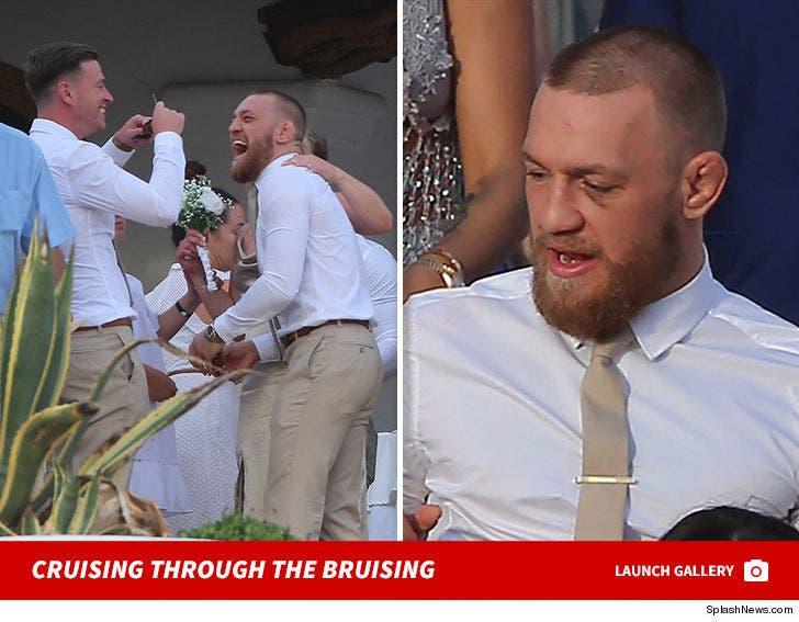 Conor McGregor Attends Friend's Wedding in Ibiza