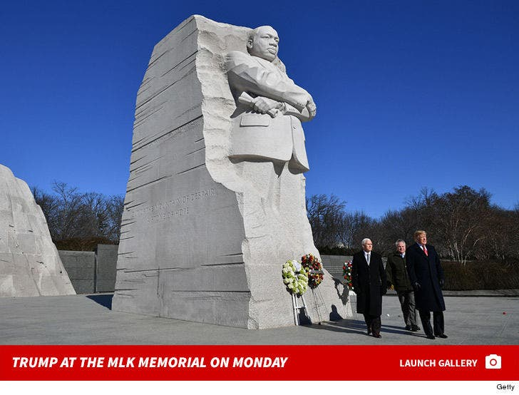 Trump at the Martin Luther King Jr. Memorial