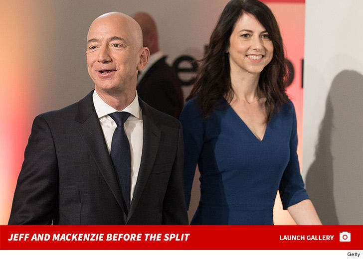 Jeff Bezos and MacKenzie Bezos -- Before The Split