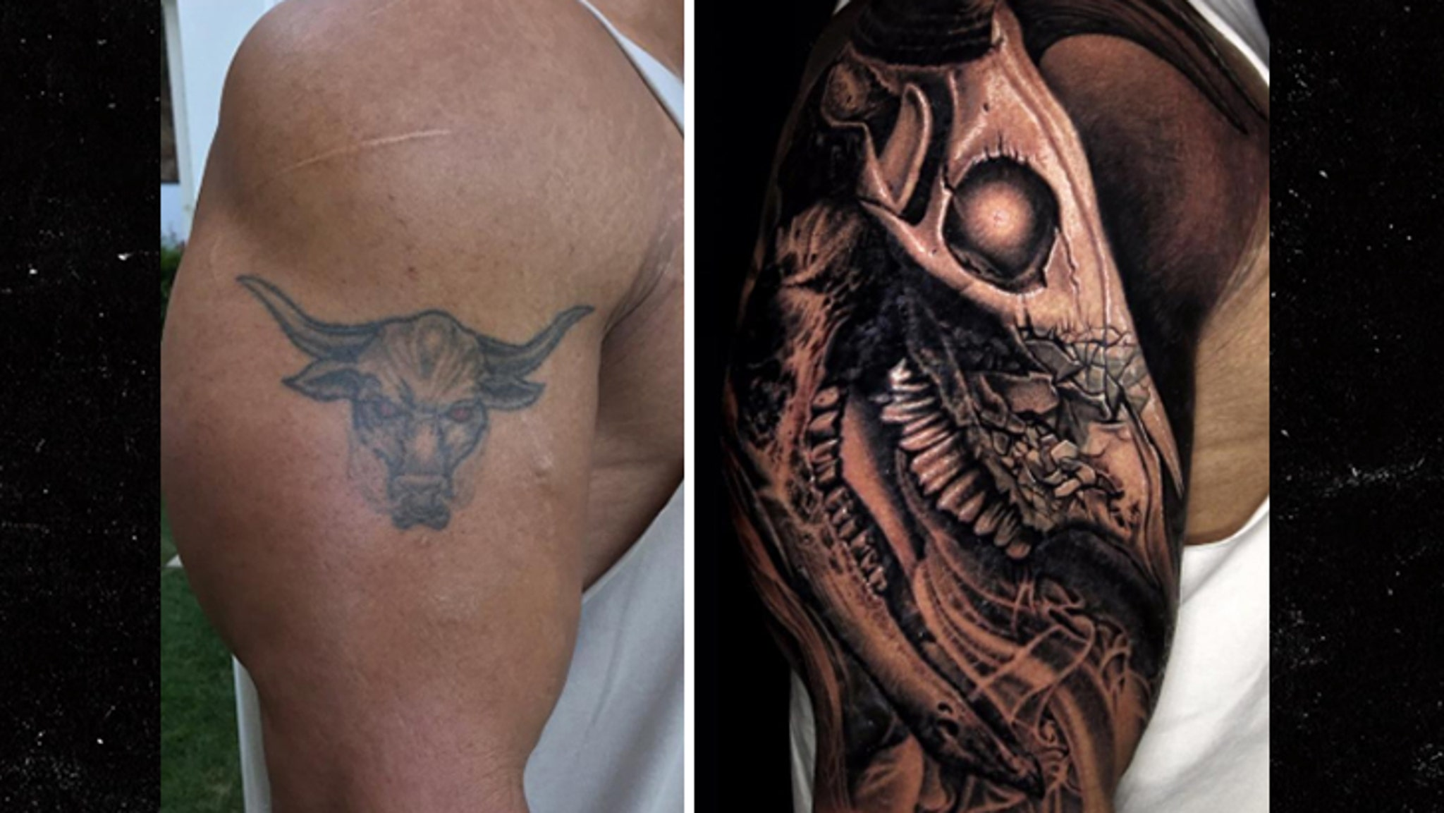 The Rock Covers Up Iconic Bull Tattoo With Bigger Bull Tattoo