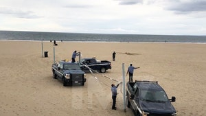 Los Angeles County Beaches Cut Down Volleyball Nets Due To Coronavirus