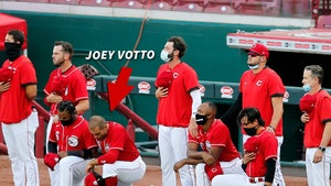 MLB Star Joey Votto Kneels For National Anthem, 3 Reds Teammates Too
