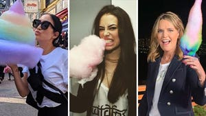 Celebrities Eating Cotton Candy