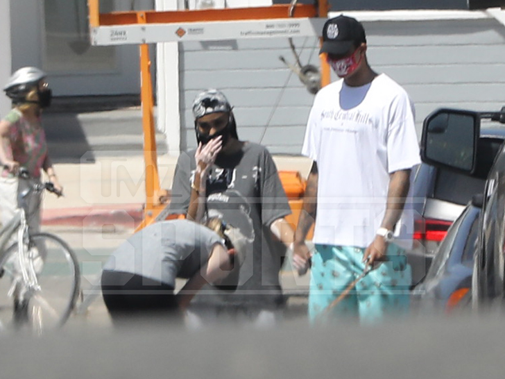 Kyle Kuzma and Winnie Harlow Hanging out and Holding Hands in Hermosa Beach