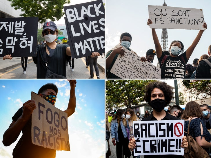 BLM Protest Signs Around The World