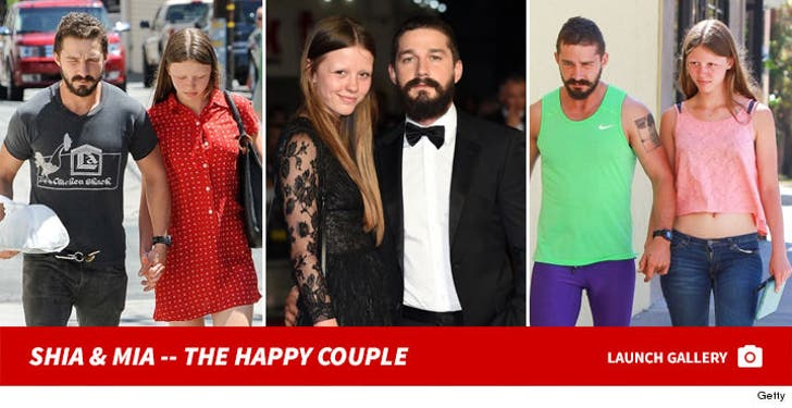 Mia Goth and Shia LaBeouf -- The Happy Couple