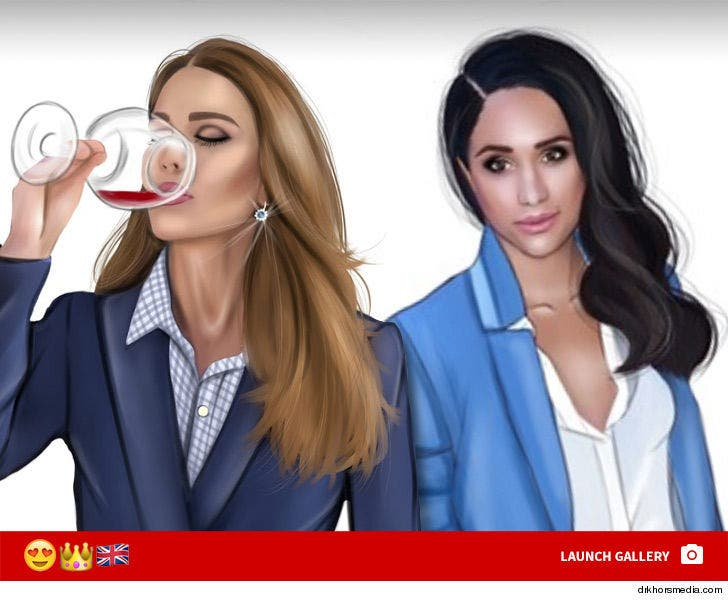 Kate Middleton and Meghan Markle -- New Emoji Treatment